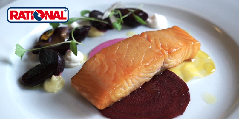 Hot smoked salmon, mixed heritage beetroots and horseradish from Alan Bird