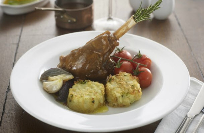 Gluten-Free Braised Lamb Shank with Bubble & Squeak