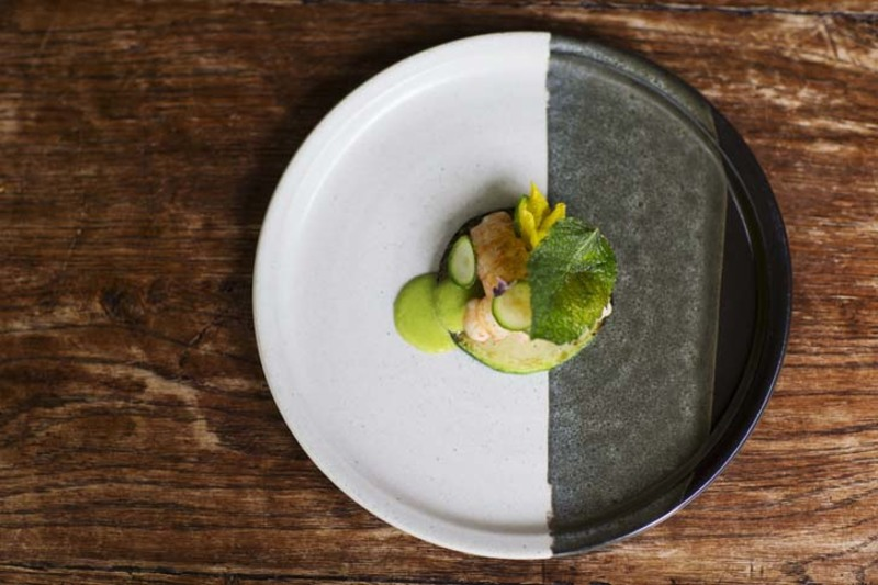 Langoustine, courgette and cucumber