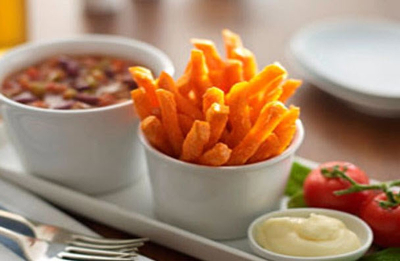 Tex Mex Chilli with Sweet Potato Fries