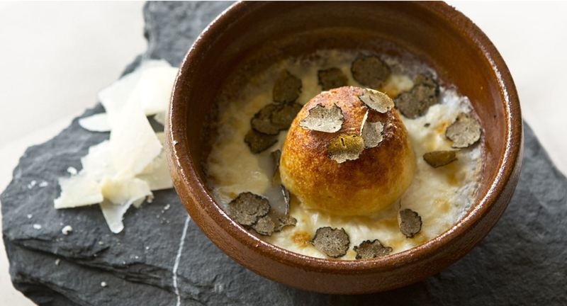 Parmesan and truffle double-baked soufflé