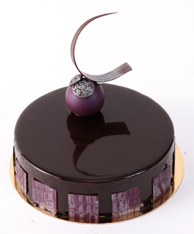 Blackcurrant and Lime Entremet