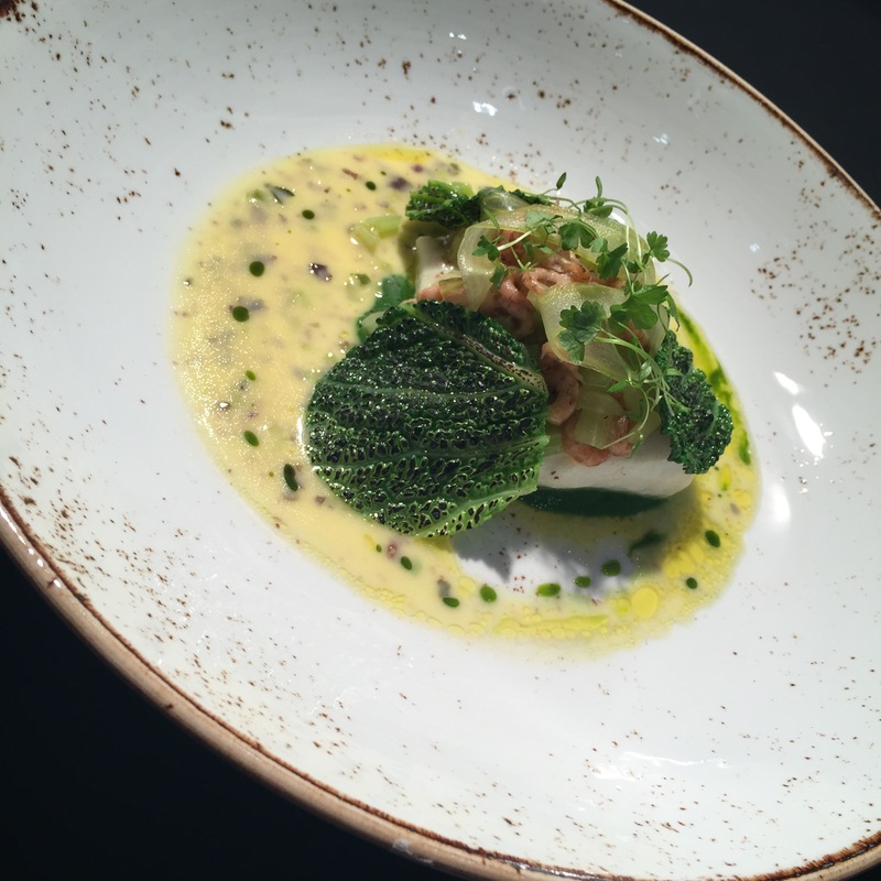 Brill, Brown Shrimp, Celery and Seaweed Butter