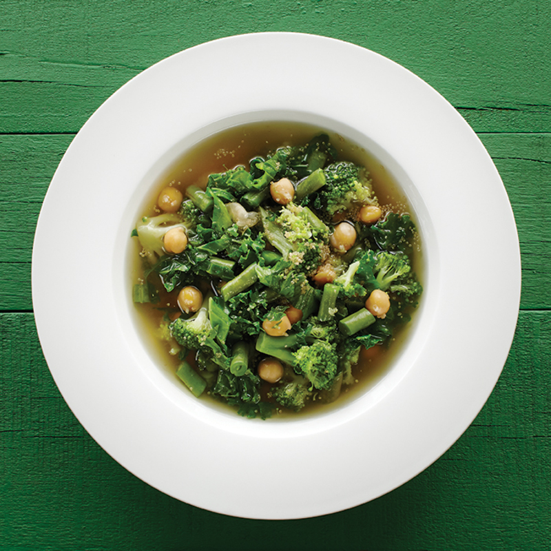 Green Minestrone with Amaranth Grain and Maple