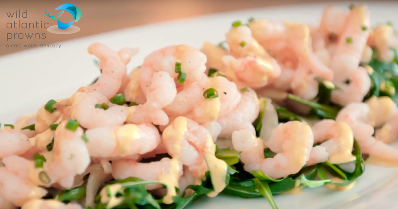 Prawn and pickled fennel salad with saffron dressing