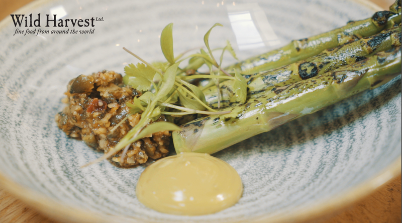 Wye Valley Asparagus, Pumpkin Seed Pistou, Pumpkin Seed Mayo