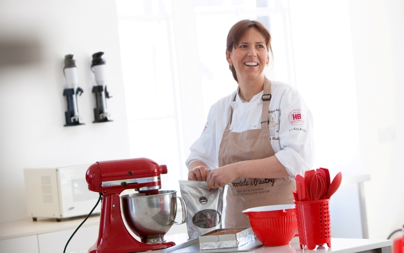 Ruth Hinks (UK World Chocolate Master) encourages the nation's chefs to download her chocolate brownie recipe and help raise money for Marie Curie.