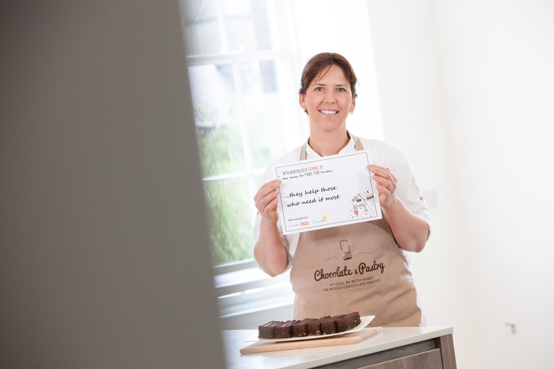 Ruth Hinks (UK World Chocolate Master) encourages the nation's chefs to download her chocolate brownie recipe and help raise money for Marie Curie. - 1