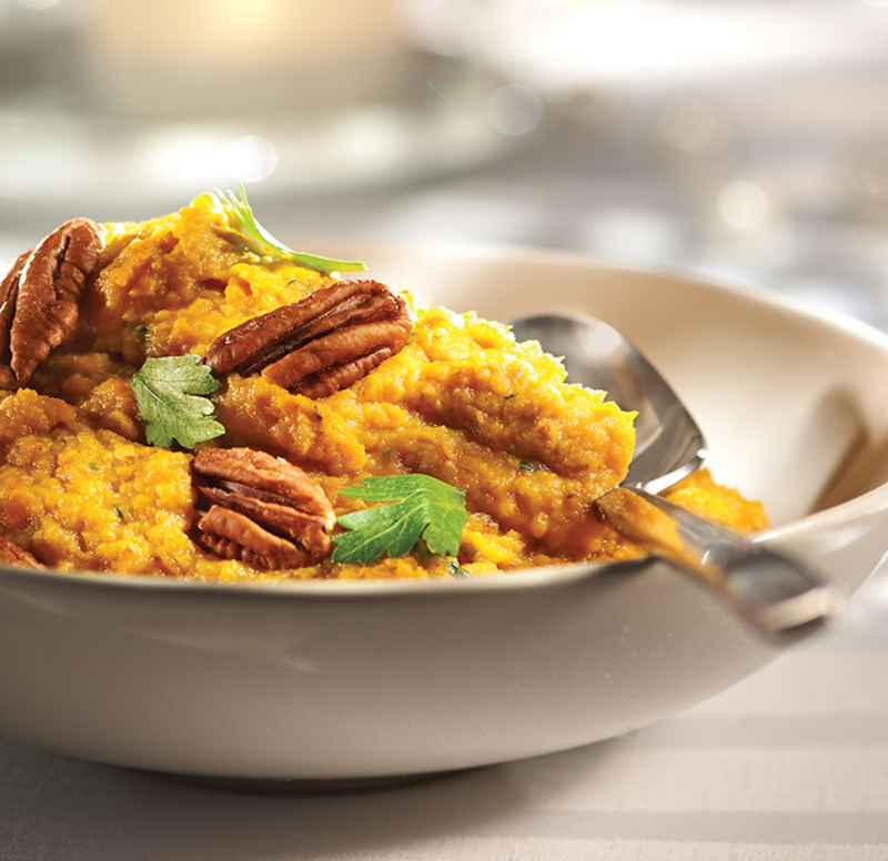 Sweet Potato Purée with Pecans and Maple Syrup