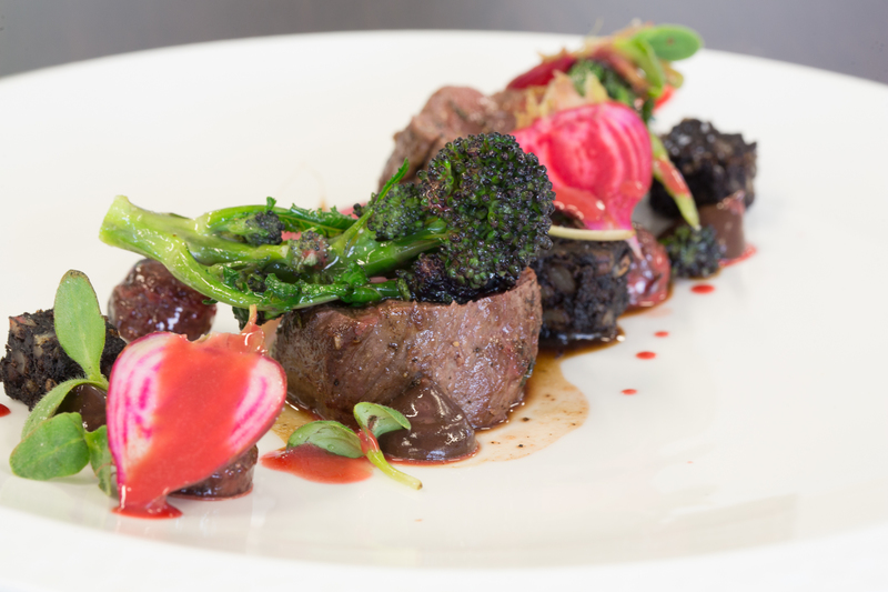 Venison, Black Pudding and Beetroot
