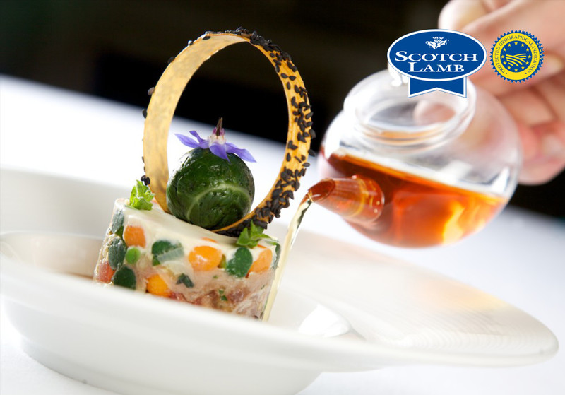 Scotch Lamb shin confit by Gleneagles Hotel, in association with Quality Meat Scotland. Photography by Guy Hinks.