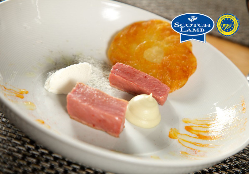 Confit loin of Scotch Lamb by The Honours in association with Quality Meat Scotland. Photography by Guy Hinks.
