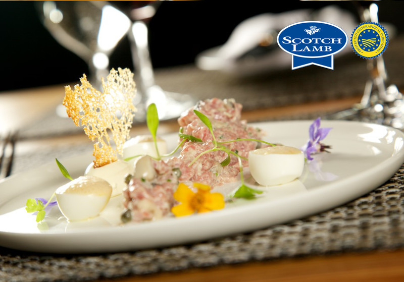 Tartare of Scotch Lamb by The Honours in association with Quality Meat Scotland. Photography by Guy Hinks.
