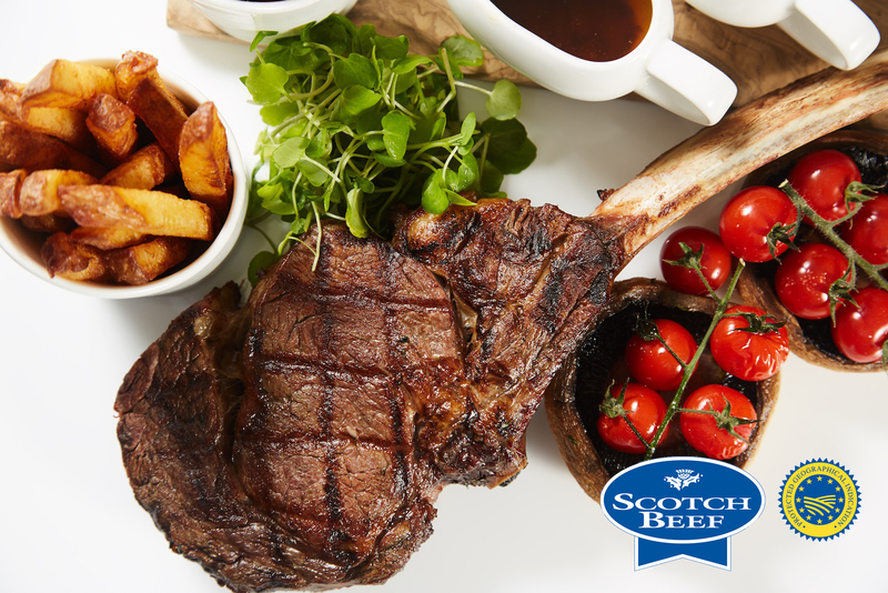 Tomahawk Steak using Scotch Beef with Field Mushrooms, cherry tomatoes and Béarnaise sauce - 3