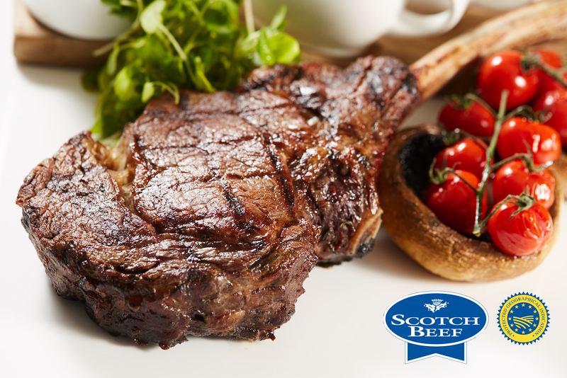 Tomahawk Steak using Scotch Beef with Field Mushrooms, cherry tomatoes and Béarnaise sauce - 4