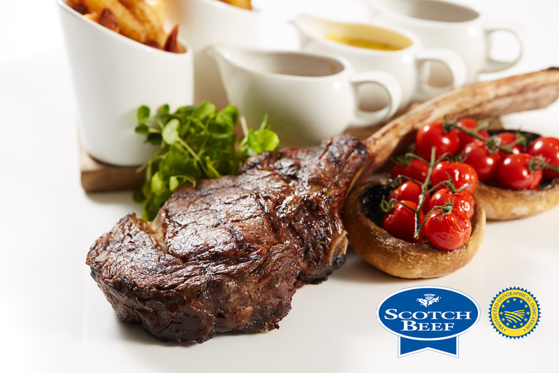 Tomahawk Steak using Scotch Beef with Field Mushrooms, cherry tomatoes and Béarnaise sauce - 5