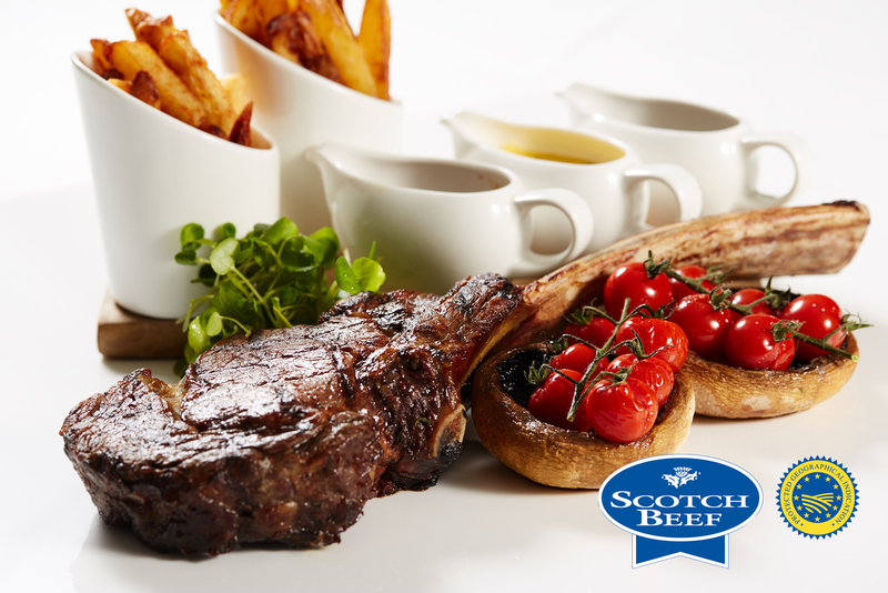 Tomahawk Steak using Scotch Beef with Field Mushrooms, cherry tomatoes and Béarnaise sauce - 6