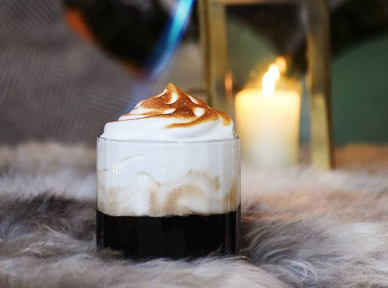 Baked Alaska Thanksgiving Cocktail