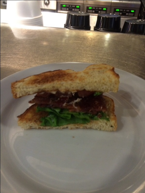 Candied Bacon BLT on Sourdough