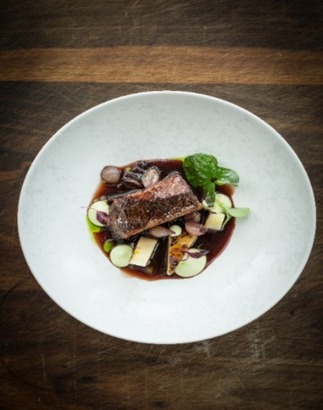 Exclusive Recipe: Braised Beef Ribs, Tarragon Emulsion, Celery Fondant and Pickled Port Wine Onions