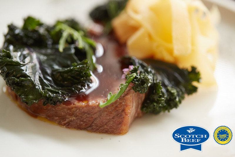 Aged Scotch Beef sirloin, kale, turnip and sea rocket by Scott Smith at Norn - 4