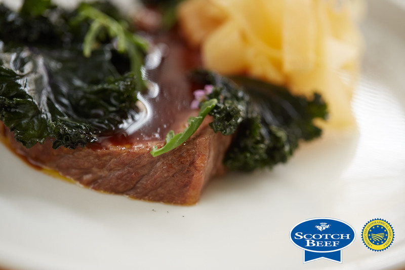 Aged Scotch Beef sirloin, kale, turnip and sea rocket by Scott Smith at Norn - 2