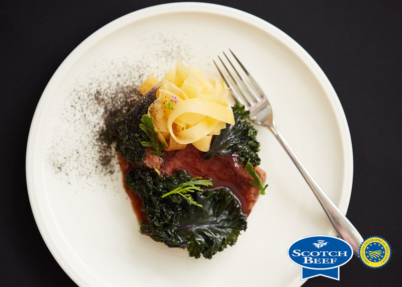 Aged Scotch Beef sirloin, kale, turnip and sea rocket by Scott Smith at Norn - 5
