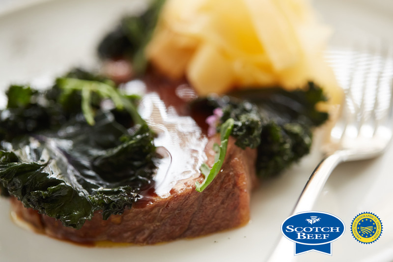 Aged Scotch Beef sirloin, kale, turnip and sea rocket by Scott Smith at Norn - 7