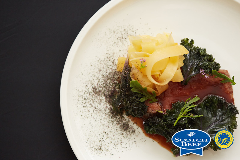 Aged Scotch Beef sirloin, kale, turnip and sea rocket by Scott Smith at Norn - 6