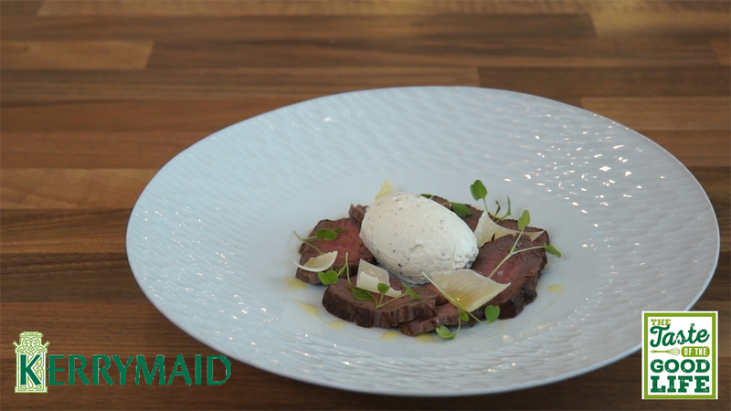 Rare roast beef fillet with truffle cream - 1