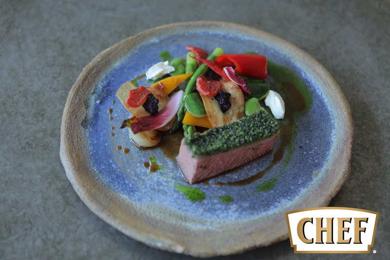 Lamb with herb crust, summer vegetable and olive tapenade potato - 2