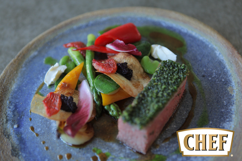 Lamb with herb crust, summer vegetable and olive tapenade potato - 1