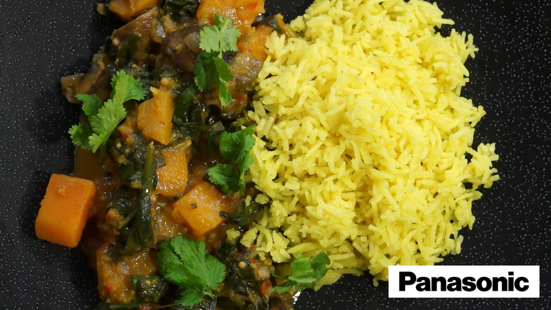 Basmati Rice Palav using a Panasonic Microwave - 1