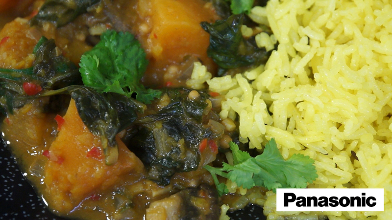 Basmati Rice Palav using a Panasonic Microwave - 2