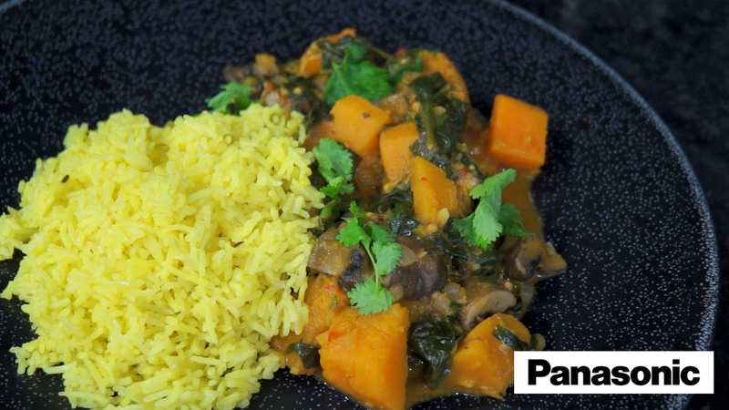Basmati Rice Palav using a Panasonic Microwave - 3