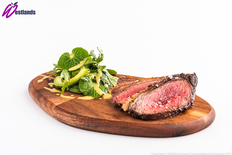 Roasted Rump Cap with Westlands Wasabi Leaf and Avocado Salad, Citrus Dressing - 3