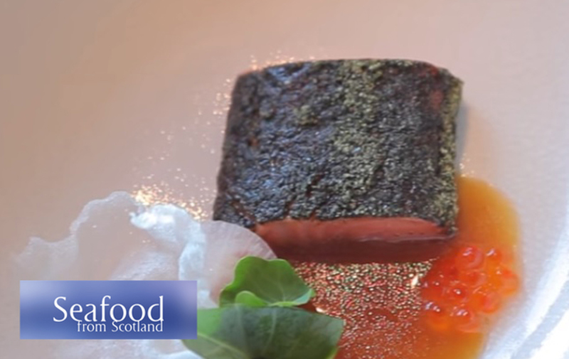 Seaweed confit loch Etive trout loin, belly tartare, smoked mussel emulsion and ponzu dressing - Serves 6 - 1