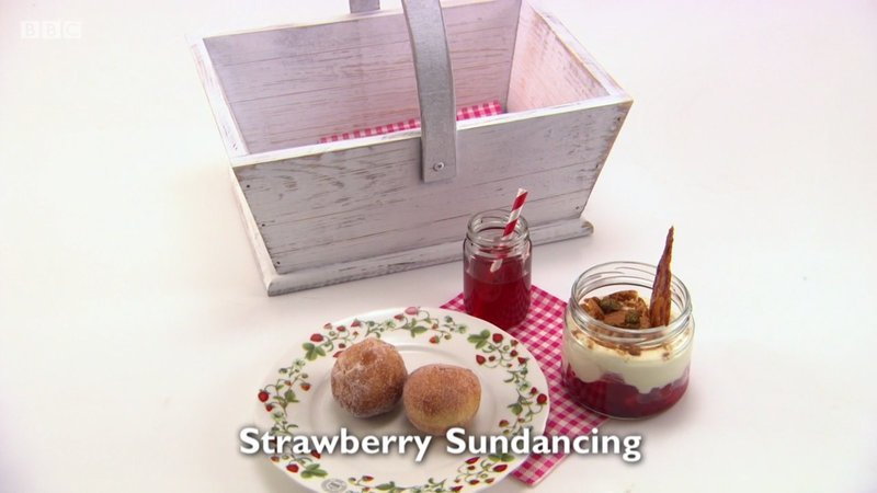 Strawberry Sun Dancing - my dessert course for Great British Menu 2017