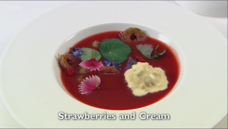 Strawberries and Cream - my starter for Great British Menu 2017
