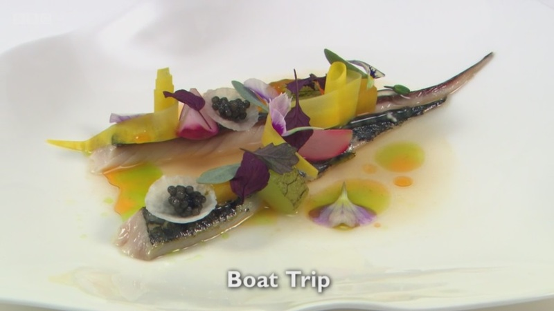 Boat Trip - my fish course for Great British Menu 2017