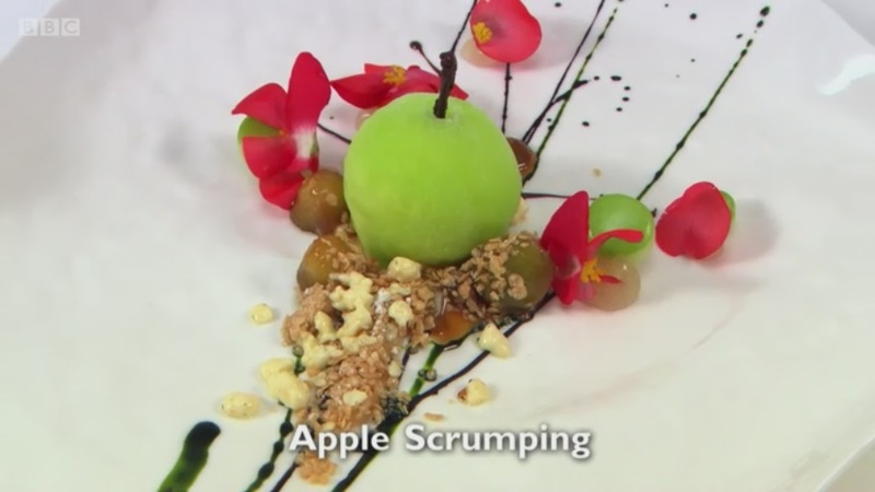 Apple Scrumping - my dessert for Great British Menu 2017