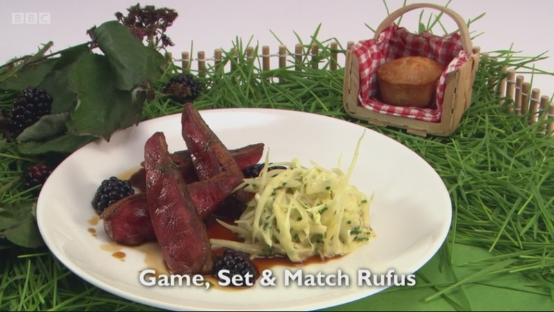 Game, Set and Match, Mr Rufus - my main for Great British Menu 2017
