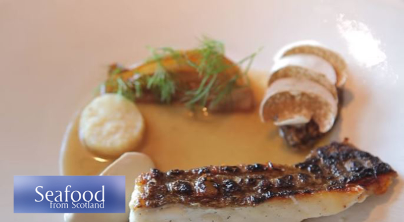 Barbecued fillet of scrabster turbot, wild mushrooms and smoked celeriac sauce recipe - 2