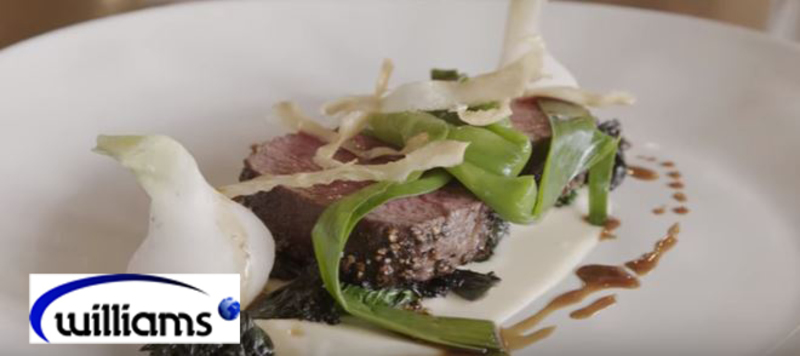 Venison loin with parsley root puree from Luke Matthews, executive head chef at Chewton Glen