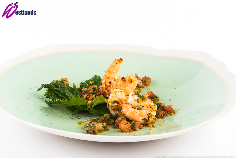 Fried Tiger Prawns with Westlands Green Shiso and chilli salsa - 2