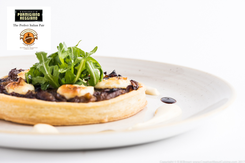 Aceto Balsamico Tradizionale Di Modena P.D.O. roasted onion tart with thyme cream
