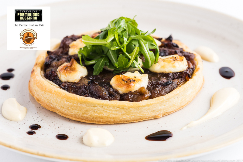 Aceto Balsamico Tradizionale Di Modena P.D.O. roasted onion tart with thyme cream - 1