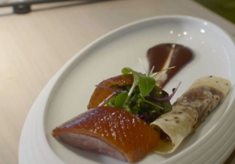 Cherry wood peking duck by Chef Tong Chee Hwee