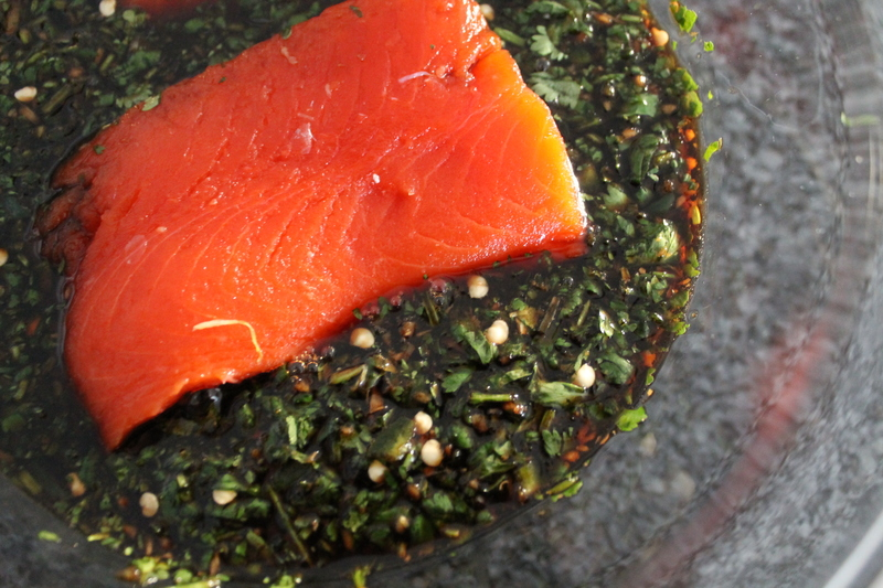 Soy Cured Salmon