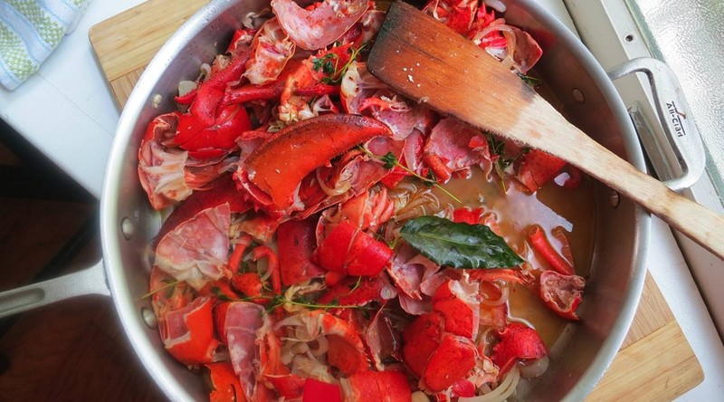 Lobster stock, for bisque
